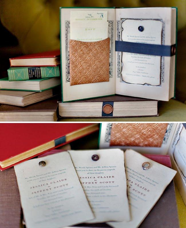 Letterpress Storybook Library Invitations