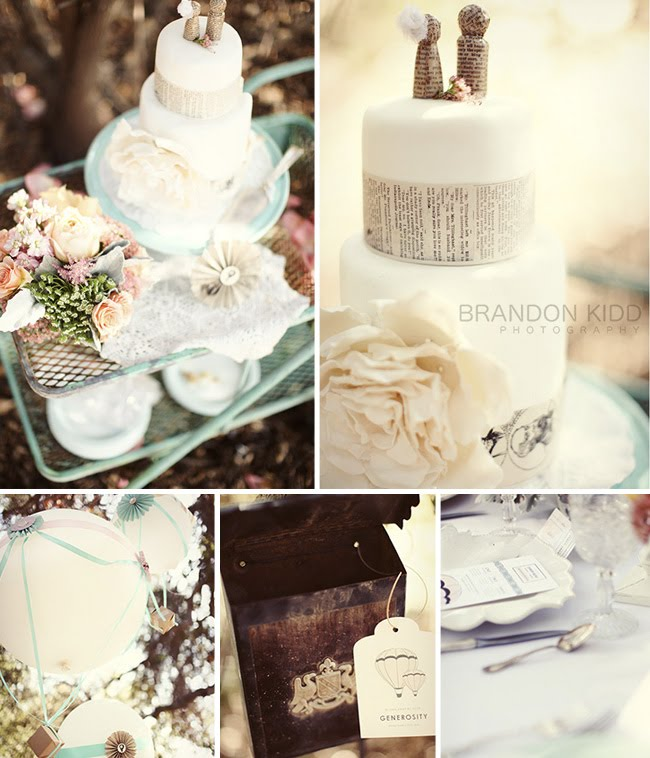 More Vintage French Wedding Inspiration Green Wedding
