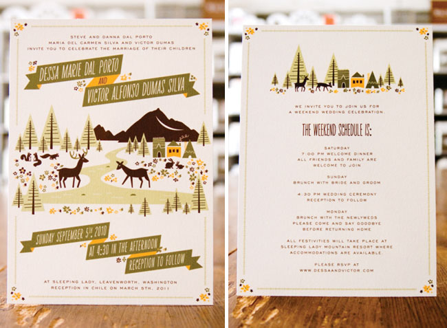 Whimsical Wedding Invitations From Anna Hurley Green