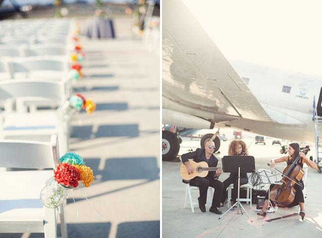 airplane hanger wedding ceremony