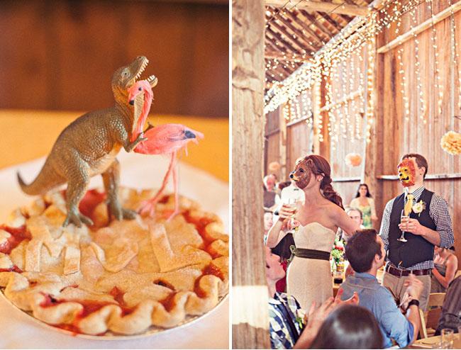 Fotos de boda con máscara de animales :S