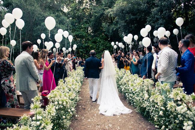 Decoração de casamento com balões!