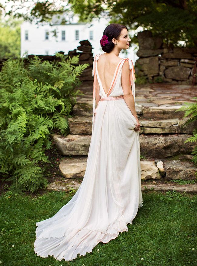 Romantic Wedding Inspiration On A Flower Farm Green
