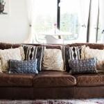 Wtsenates Best Ideas Throw Pillows For Leather Sofa Collection 4454