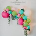 Diy Floral Balloon Arch Green Wedding Shoes