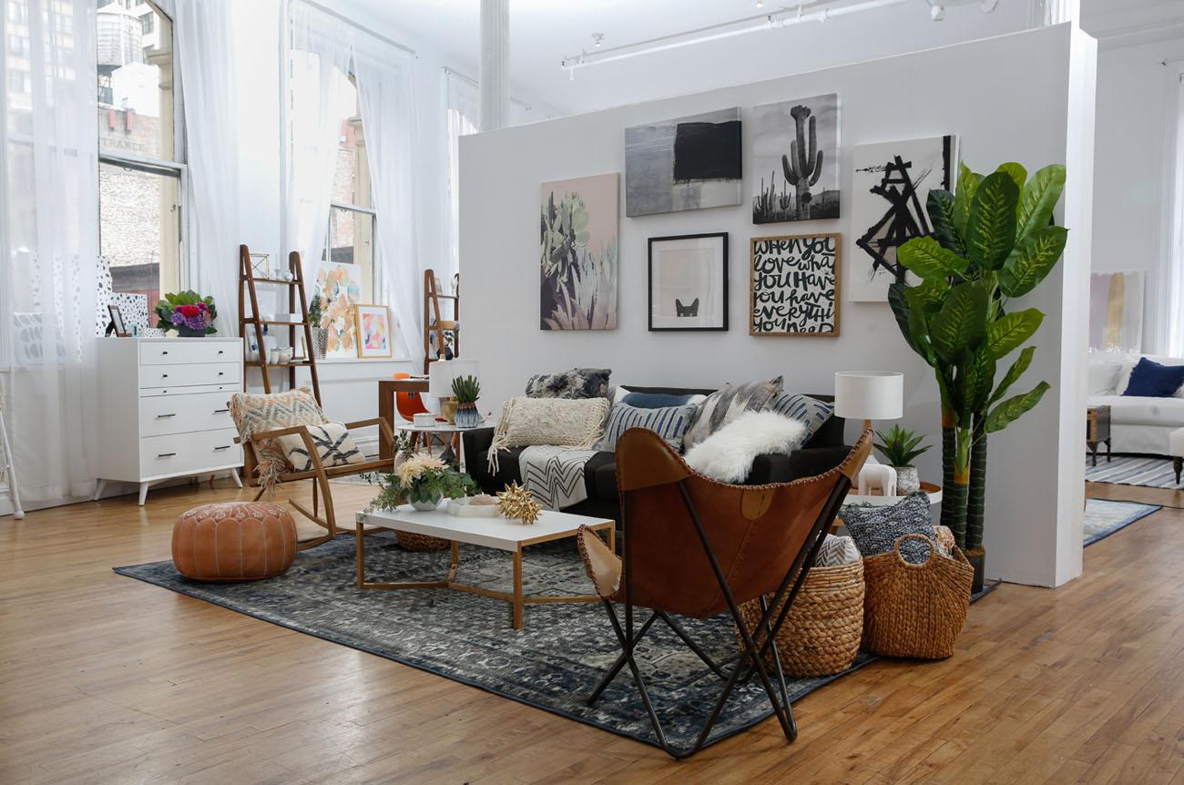 Modern Boho Interior Design with Wayfair Registry - Green ... on Boho Modern Decor  id=89985