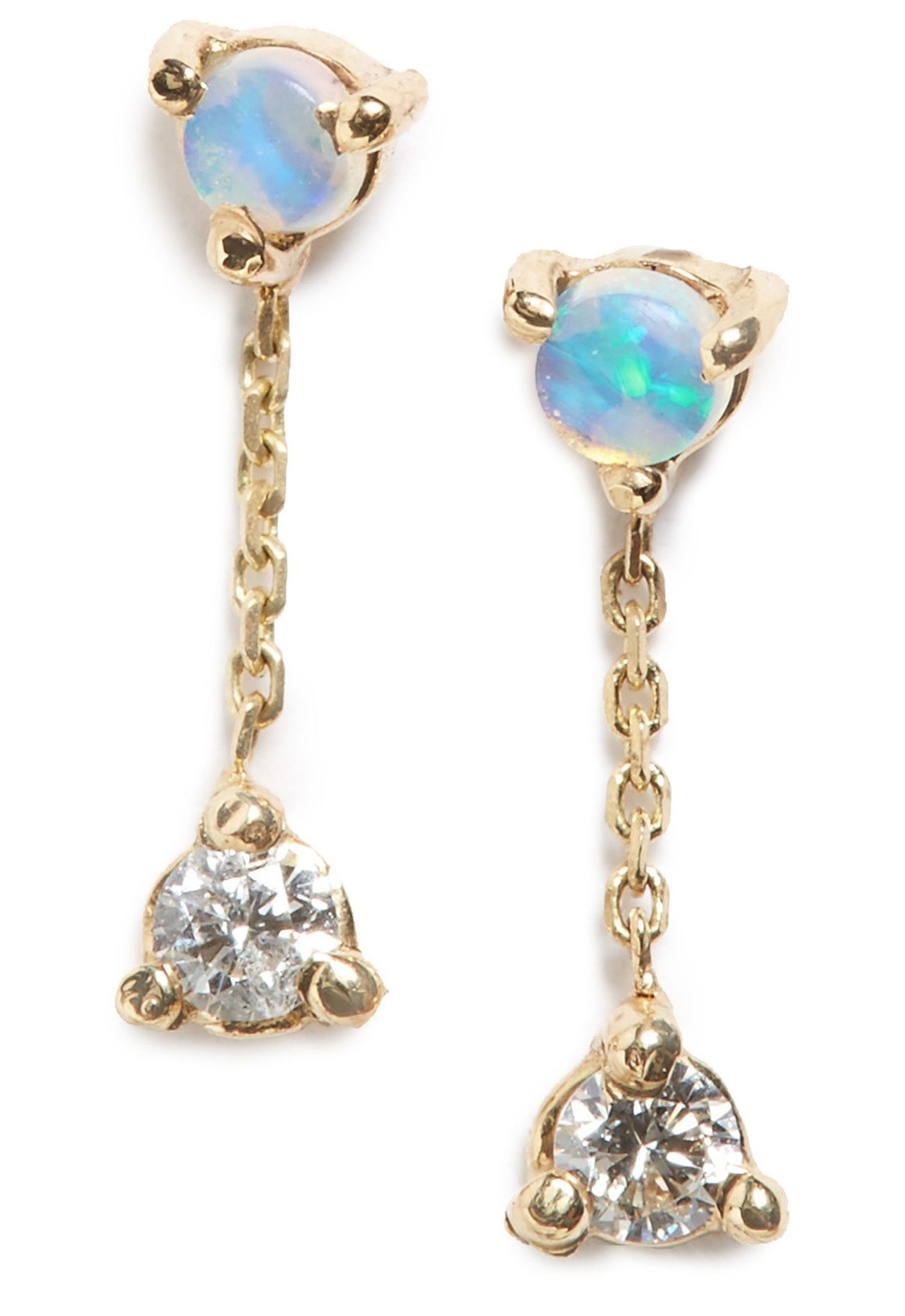 Counting Collection Small Two Step Opal Amp Diamond Drop
