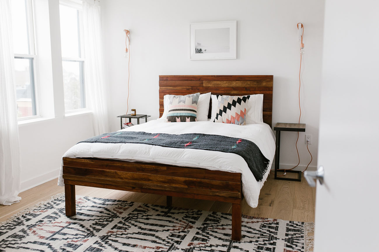 Home Tour: Mid-Century Modern + Boho-Inspired Condo ... on Boho Modern Bedroom  id=68447