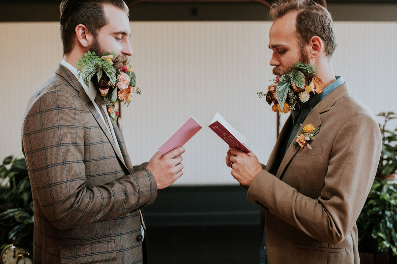 Wes Anderson Inspired Wedding Featuring Dapper Gents And