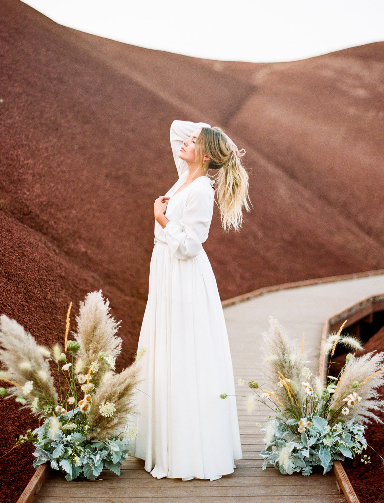 Terra Cotta 70s Bridal Inspiration Among The Painted Hills