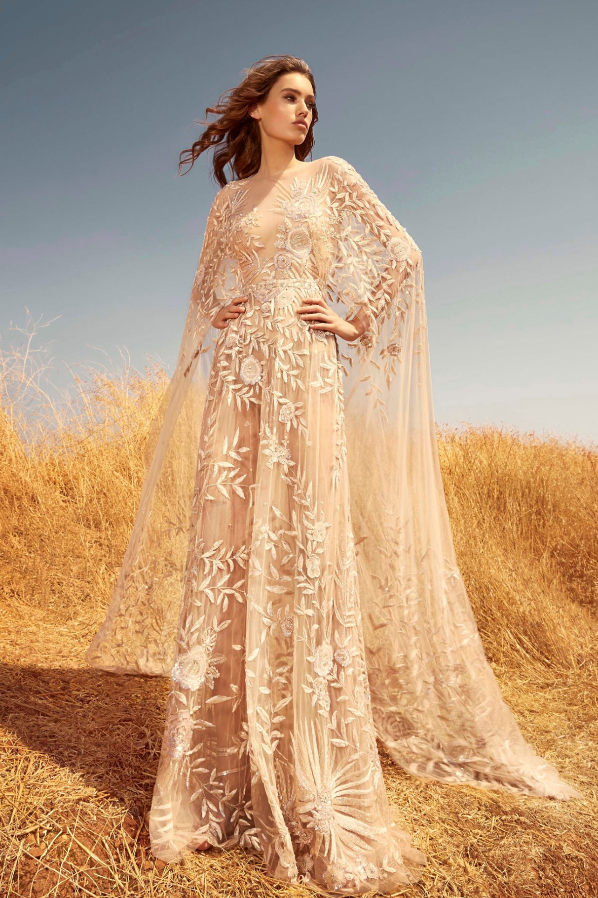 Zuhair Murad cape wedding dress