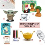 How To Throw A Rad White Elephant Party Rules Gift Ideas A Fun Retro Decor Twist Green Wedding Shoes