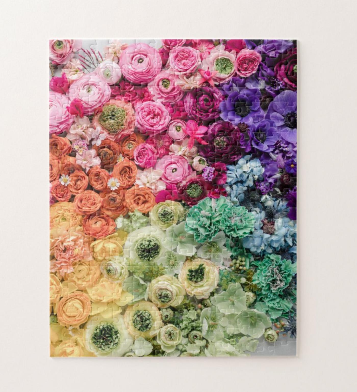 rainbow floral puzzle