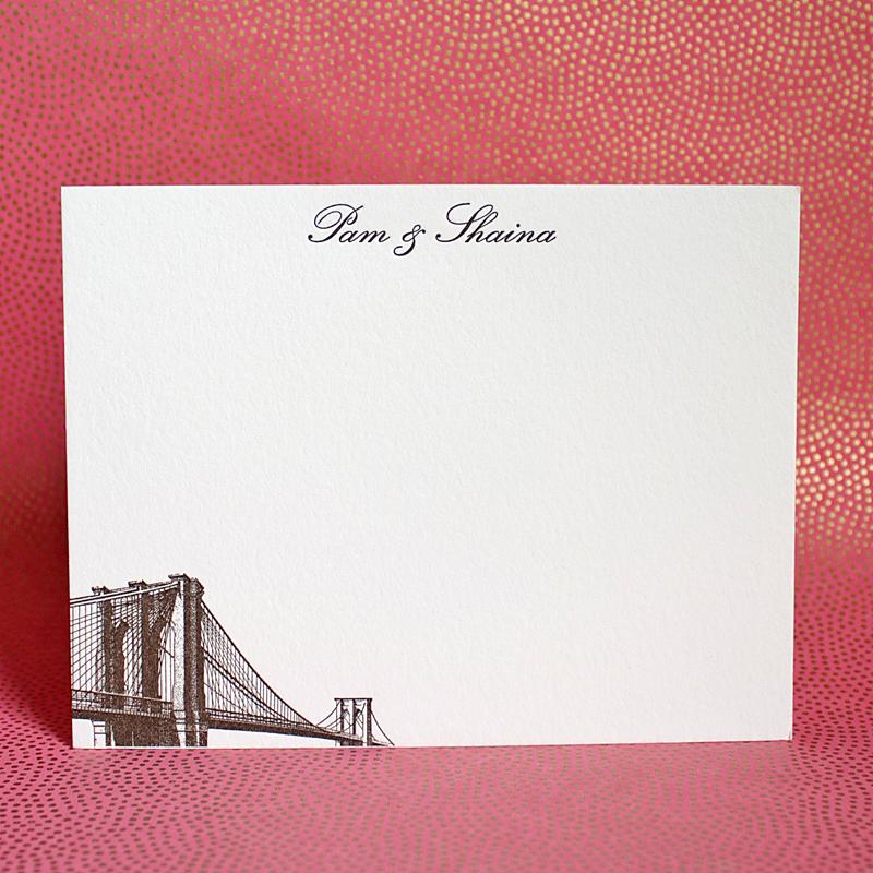 Brooklyn Bridge Greenwich Letterpress