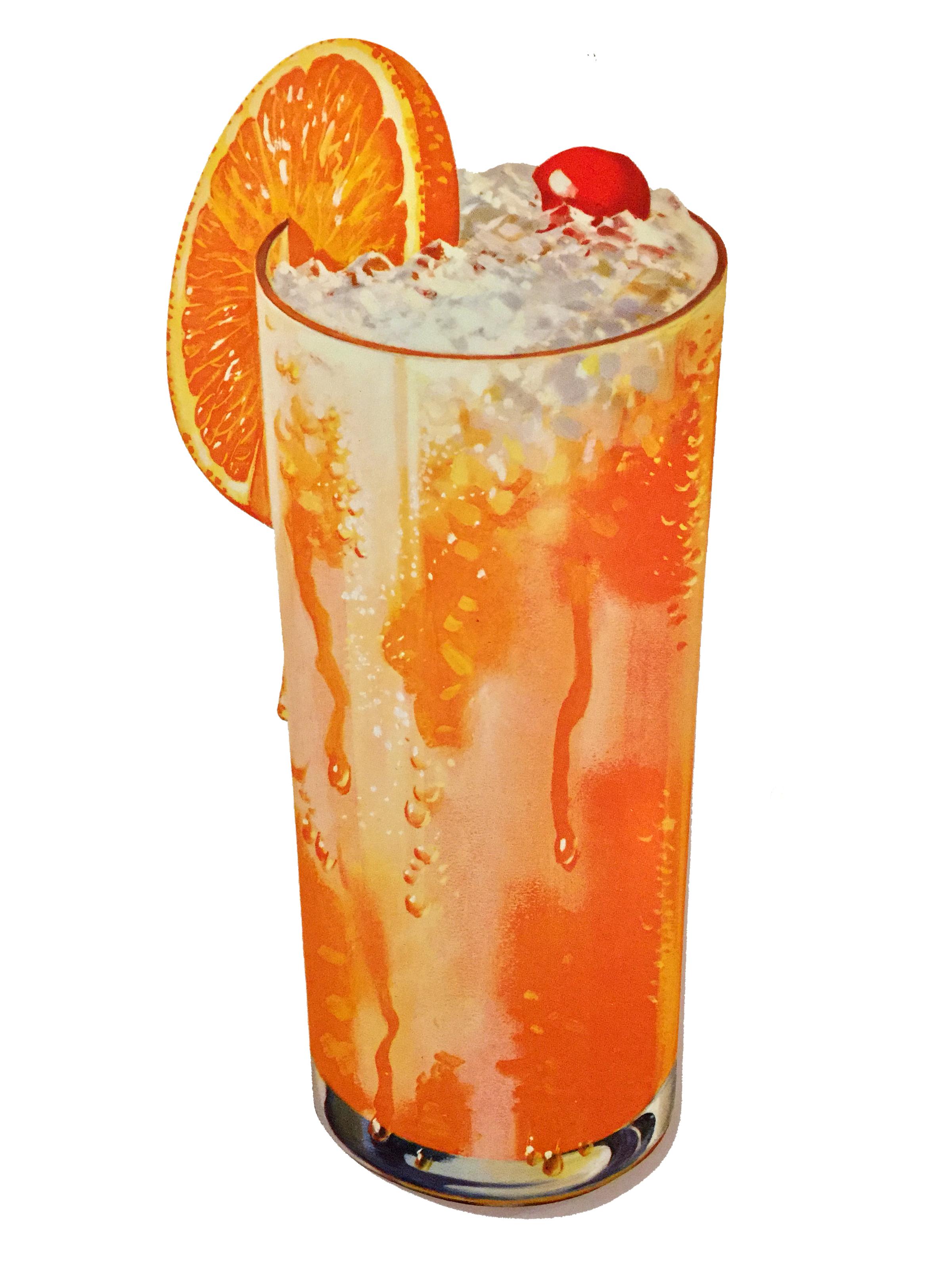 Orange Creamsicle Float Greenwich Letterpress