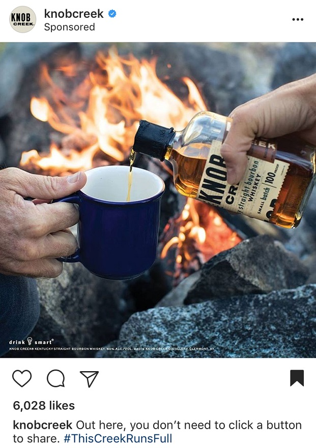 Instagram Advertising for Knob Creek
