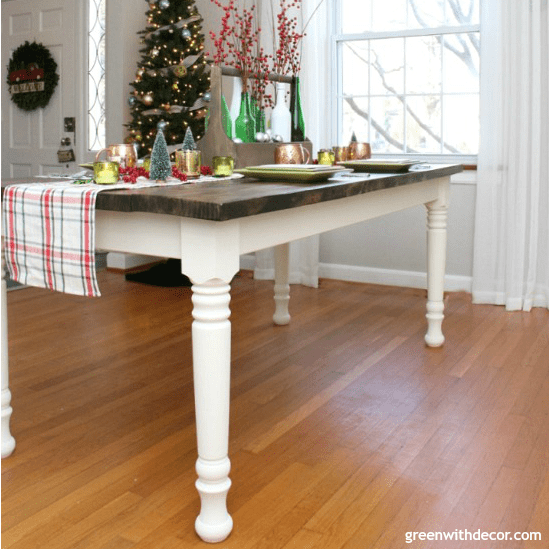 How To Paint Table Legs Green With Decor