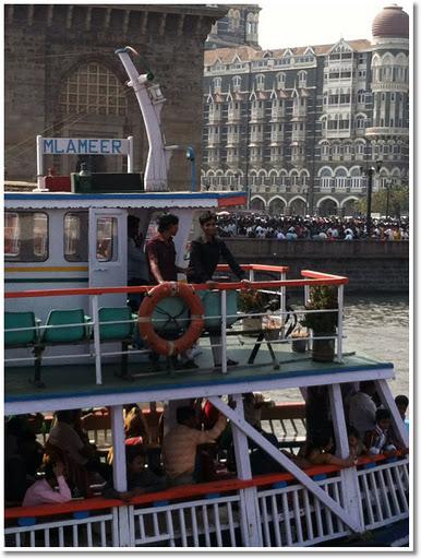 Gateway to India ferry to Elephanta Island
