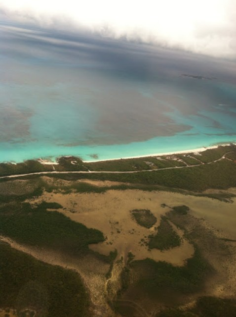 Aerial view of Grand harbour Cay, Berry Islands, Bahamas