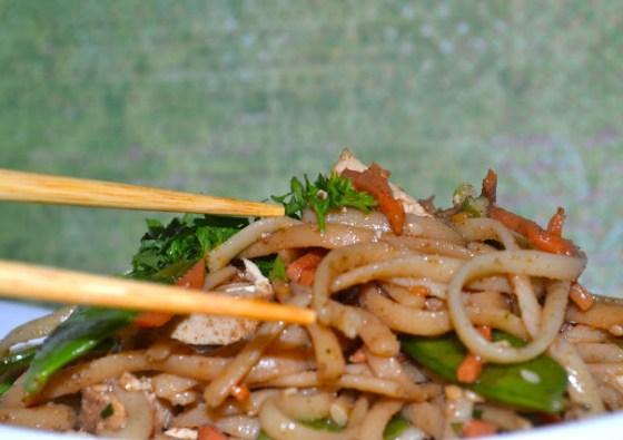 sesame noodle tofu