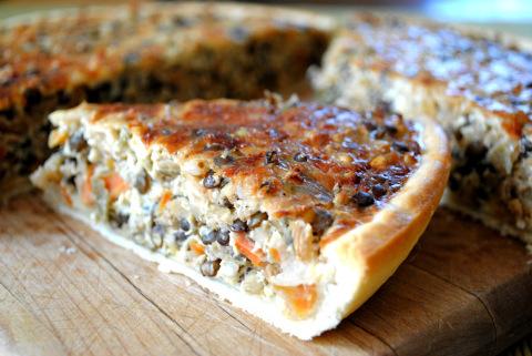 vegetable lentil quiche