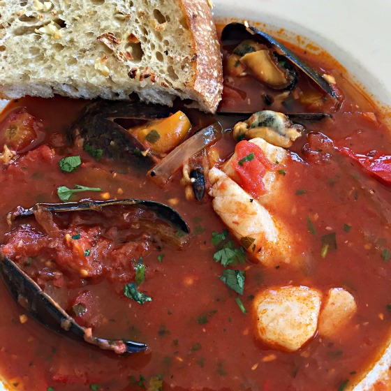 mussel and redfish soup