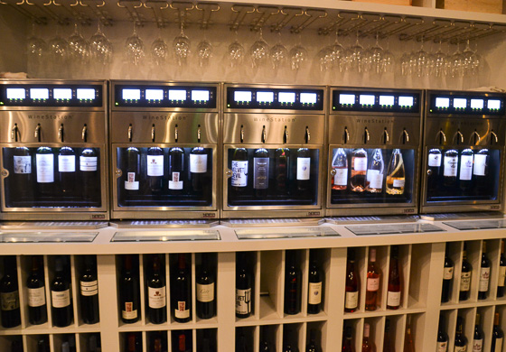 wine station at West Indies Wine Company