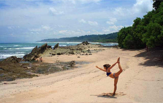 Eco friendly yoga retreat