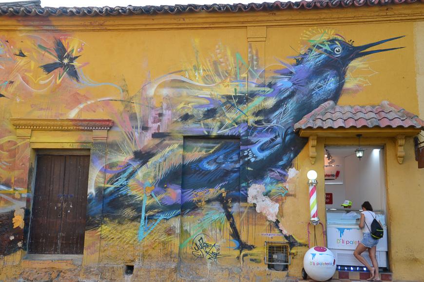 Street murals Maria Mulata Getsamani Cartagena