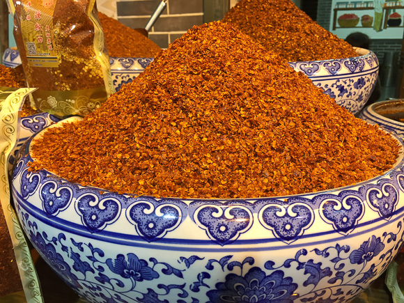 Chilis at Xi'an Market