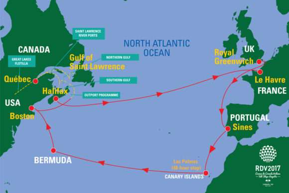 Rendez-Vous Route map