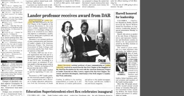 DAR awards Robert Stevenson
