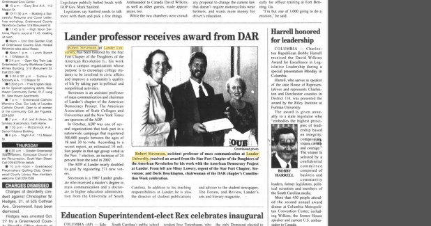 DAR awards Robert Stevenson