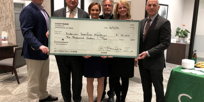 COUNTYBANK FOUNDATION PRESENTS DONATION TO ANDERSON INTERFAITH MINISTRIES