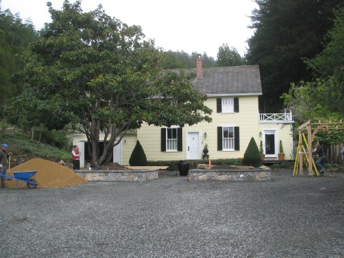 View of the house from the parking area.