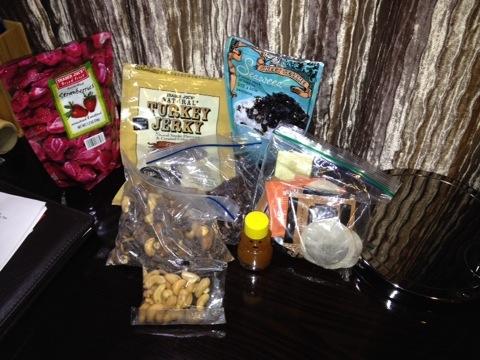 My emergency travel snacks.