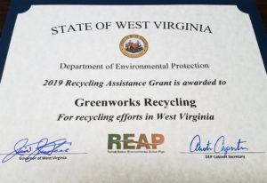 Greenworks Recycling REAP Award