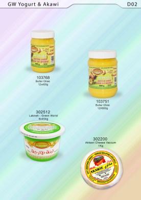 Butter Ghee, GW Akkawi, GW Labneh