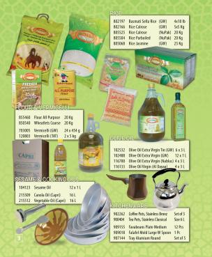 Rice, Oils, Molokhia