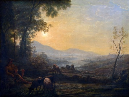 Follower of Claude Lorrain, The Herdsman, 17th or 18th century, oil on canvas+, Samuel H. Kress Collection