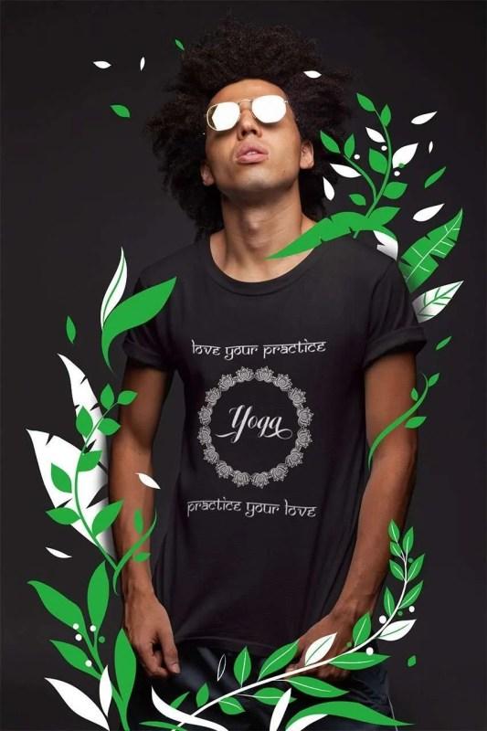 camiseta yoga love your practice