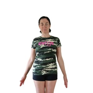 camiseta vegana manga corta de yoga satya