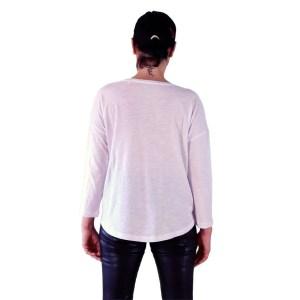 camiseta organica mnaga 3/4 las chicas son guerreras espalda