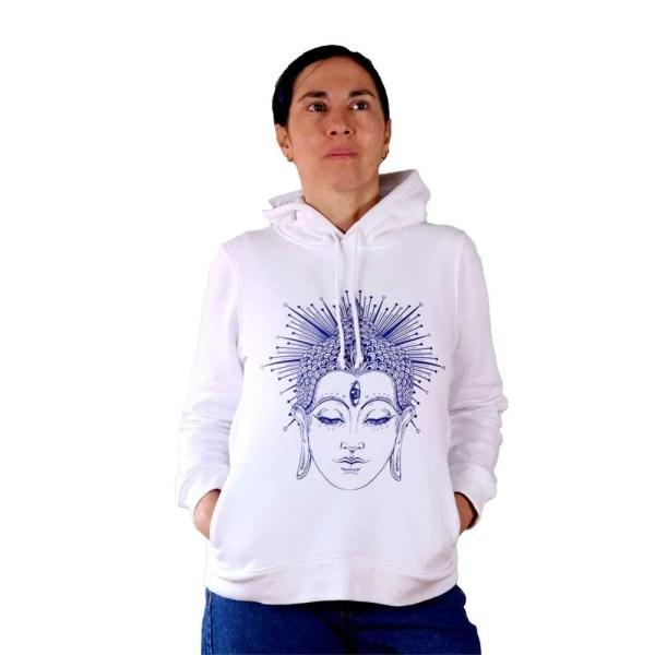 Sudadera con capucha organica Buda