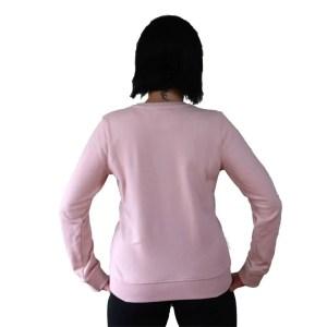 sudadera organica crew neck rosa nasti de plastic espalda