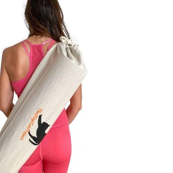 bolsa orgánica para esterilla de yoga blanca