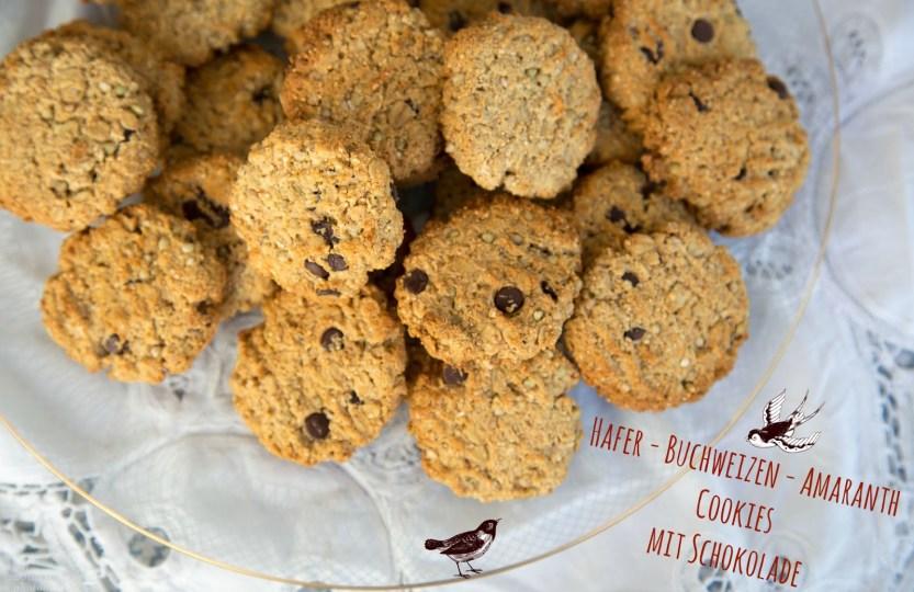 Hafer-Buchweizen-Amaranth Cookies mit Schokolade (Vegan) www.greenysherry.com