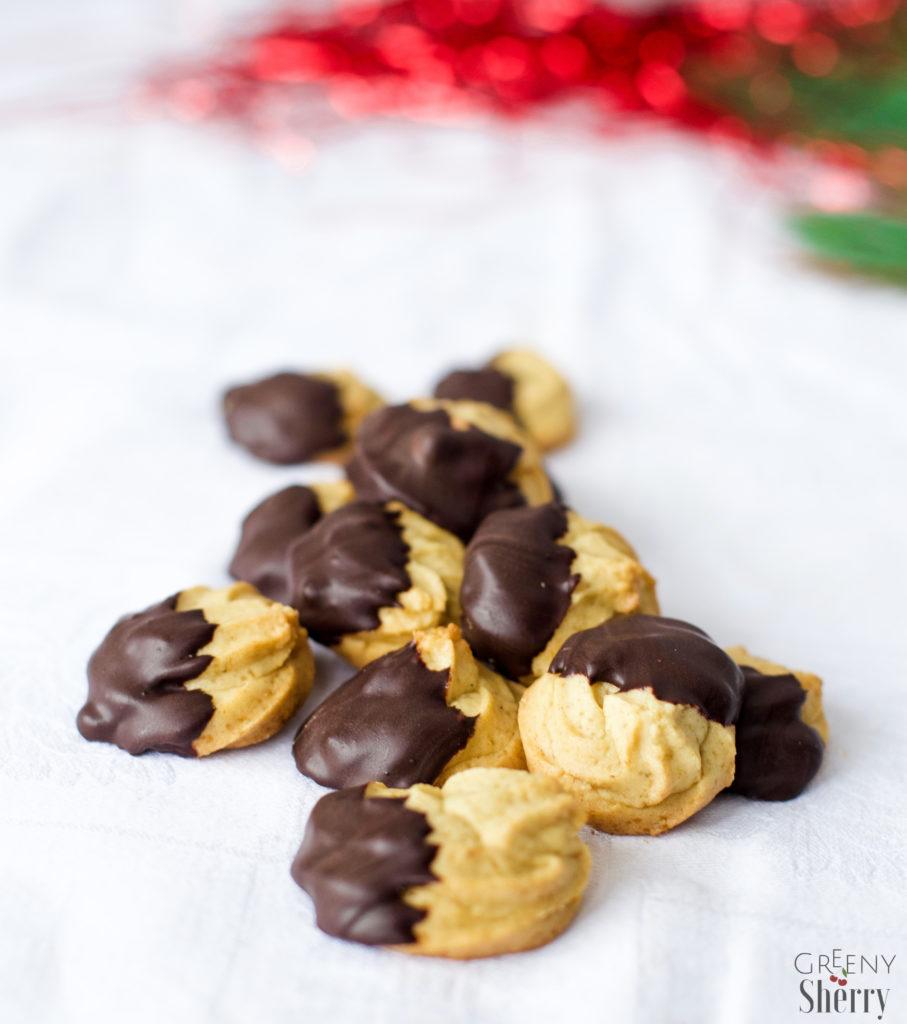 Anisplätzchen mit Schokolade [vegane Weihnachten] www.greenysherry.com
