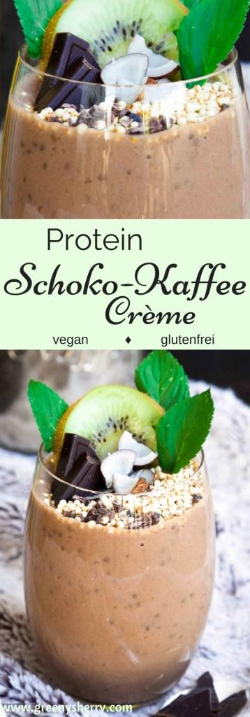 Schnelle Protein Schokoladen-Kaffee Crème (vegan & glutenfrei) www.greenysherry.com