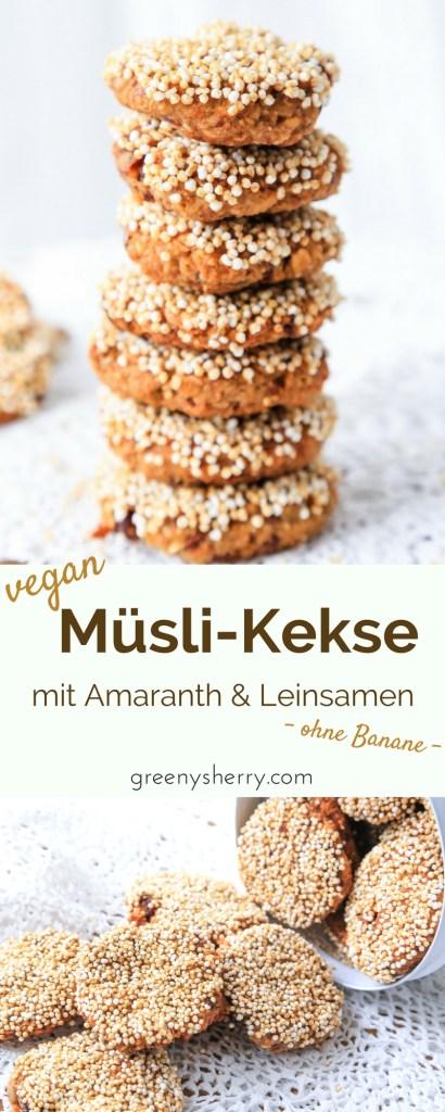 Gesunde Energie - Müsli-Kekse mit Leinsamen und Amaranth vegan www.greenysherry.com
